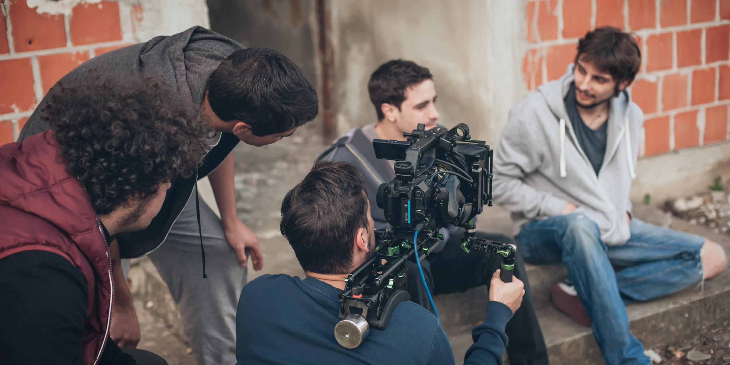 videographer recording actors